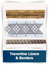 Travertine Liners & Borders